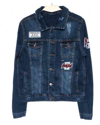 0084 Orjean куртка джинсовая мужская модная синяя осенняя стрейч-котон (S-XL, 4 ед.) Orjean
