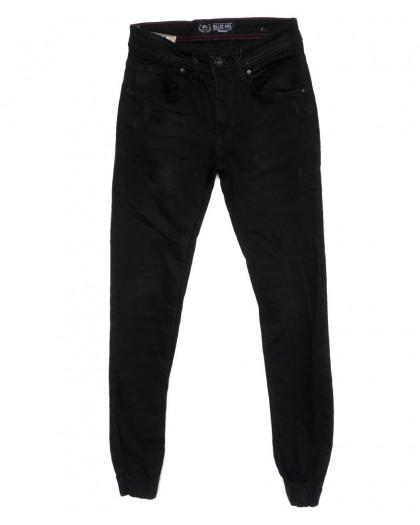 6197-R Blue Nil джинсы мужские с царапками на резинке черные осенние стрейчевые (29-36, 8 ед.) Blue Nil