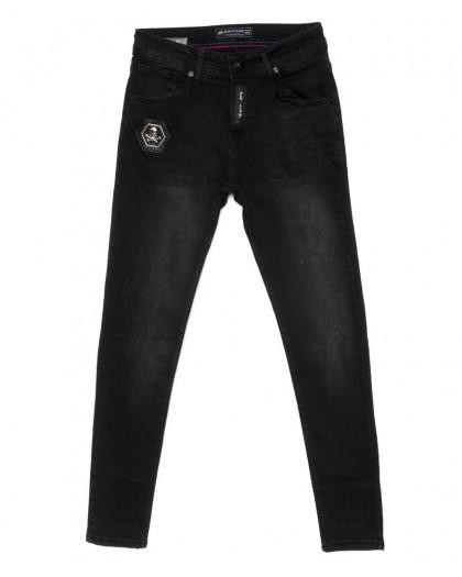 5396 siyah Redman джинсы мужские с царапками темно-серые осенние стрейчевые (29-36, 8 ед.) REDMAN