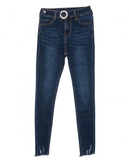 3445 New jeans американка с царапками синяя осенняя стрейчевая (25-30, 6 ед.) New Jeans