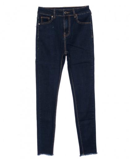 3471 New jeans американка с рванкой синяя осенняя стрейчевая (25-30, 6 ед.) New Jeans