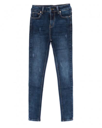 3460 New jeans американка с царапками синяя осенняя стрейчевая (25-30, 6 ед.) New Jeans