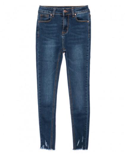 3466 New jeans американка с царапками синяя осенняя стрейчевая (25-30, 6 ед.) New Jeans