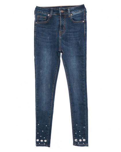 3464 New jeans американка с царапками модная синяя осенняя стрейчевая (25-30, 6 ед.) New Jeans