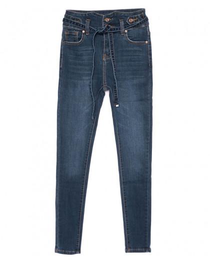 3479 New jeans американка с царапками с поясом синяя осенняя стрейчевая (25-30, 6 ед.) New Jeans