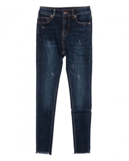 3459 New jeans американка с царапками синяя осенняя стрейчевая (25-30, 6 ед.) New Jeans