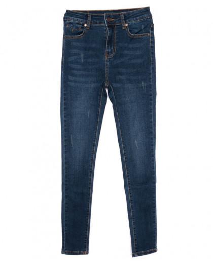 3443 New jeans американка с царапками синяя осенняя стрейчевая (25-30, 6 ед.) New Jeans