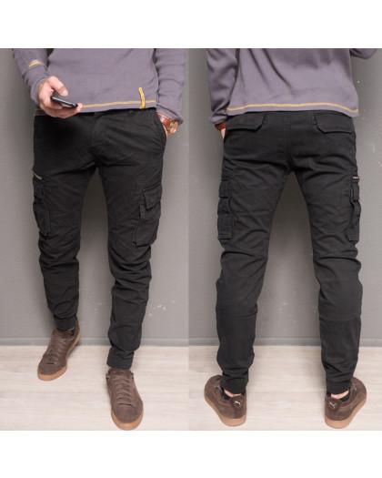 1868-dark blue Forex брюки мужские молодежные карго на флисе зимние стрейч-котон (28-40, 10 ед.) Forex