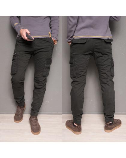 1868-grey Forex брюки мужские молодежные карго на флисе зимние стрейч-котон (28-40, 10 ед.) Forex