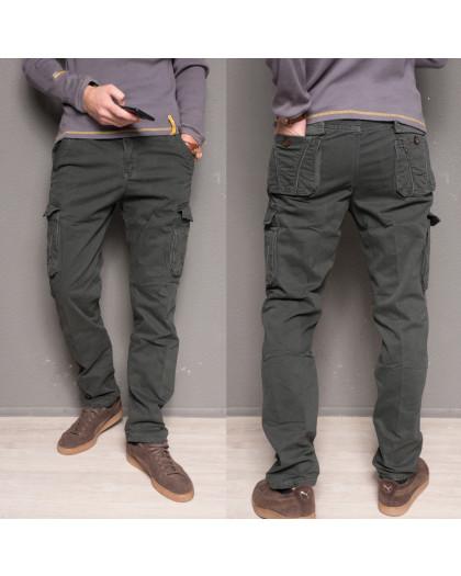1863-dark grey Forex брюки мужские карго на флисе зимние стрейч-котон (30-40, 10 ед.) Forex