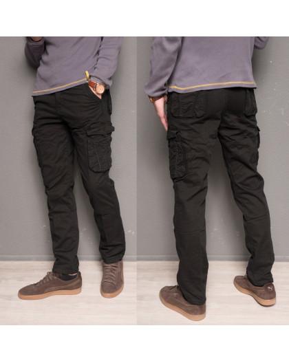 1863-black Forex брюки мужские карго на флисе зимние стрейч-котон (30-40, 10 ед.) Forex