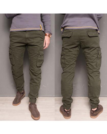 1868-army green Forex брюки мужские молодежные карго на флисе зимние стрейч-котон (28-40, 10 ед.) Forex