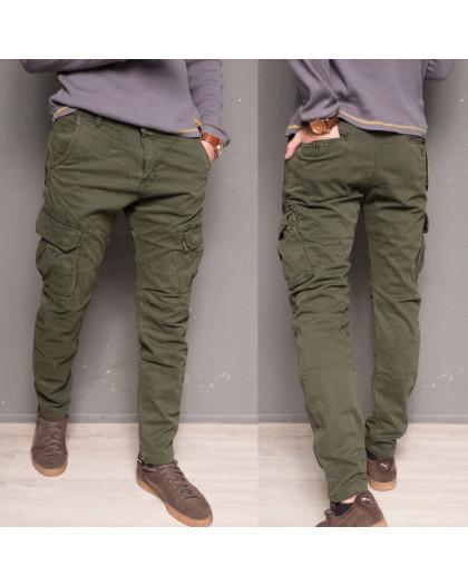 1869-army green Forex брюки мужские молодежные карго на флисе зимние стрейч-котон (28-40, 10 ед.) Forex