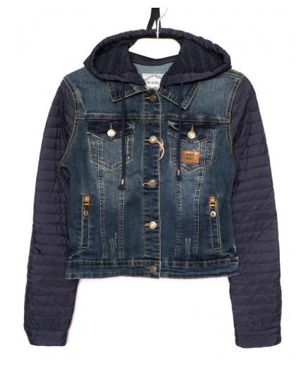 0950 X куртка женская джинсовая синяя осенняя стрейчевая (S-3XL, 6 ед.) X