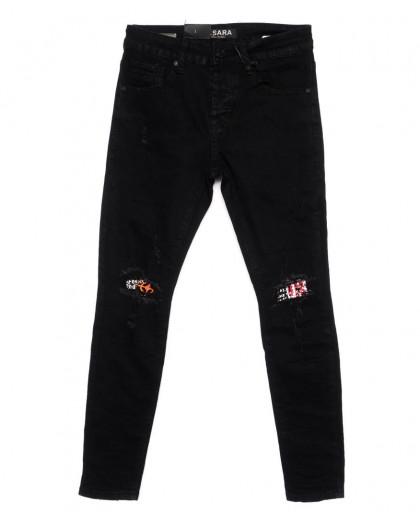 1198 M.Sara джинсы мужские молодежные с рванкой модные осенние стрейчевые (28-36, 6 ед) M.Sara