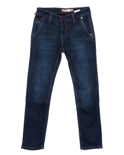 2992 Winning джинсы мужские молодежные синие на флисе зимние стрейчевые (27-34, 8 ед) Winning