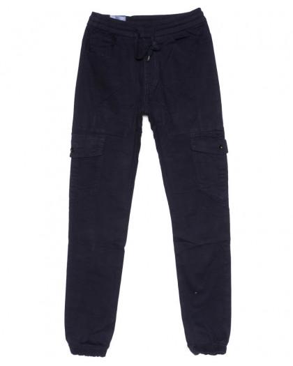 6609-2 REIGOUSE джинсы мужские на резинке синие осенние стрейчевые (29-38, 8 ед) REIGOUSE