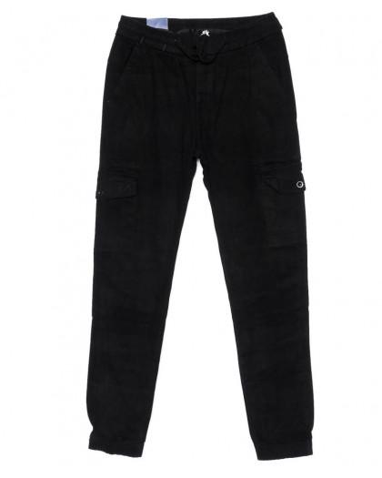 6610-1 REIGOUSE джинсы мужские на резинке черные осенние стрейчевые (31-38, 8 ед) REIGOUSE