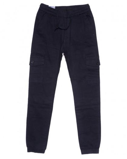 6610-2 REIGOUSE джинсы мужские на резинке синие осенние стрейчевые (31-38, 8 ед) REIGOUSE