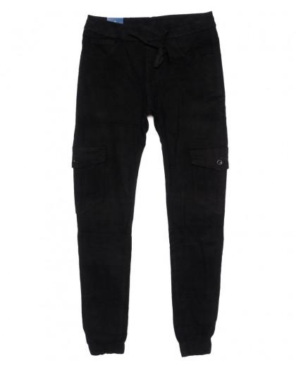 6609-1 REIGOUSE джинсы мужские молодежные на резинке черные осенние стрейчевые (29-38, 8 ед) REIGOUSE