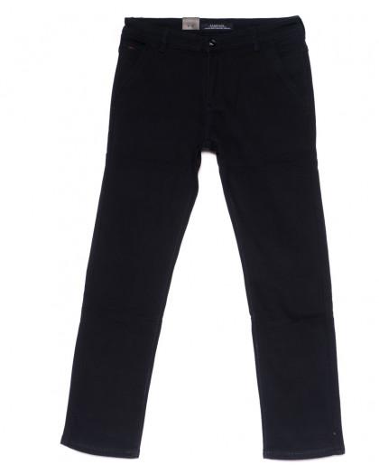 4023-D LS джинсы мужские батальные черные на флисе зимние стрейчевые (34-42, 8 ед) LS