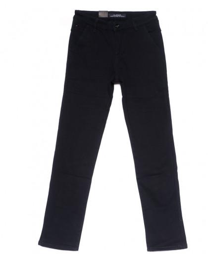 4020-D LS брюки мужские темно-синие на флисе зимние стрейч-котон (29-38, 8 ед) LS