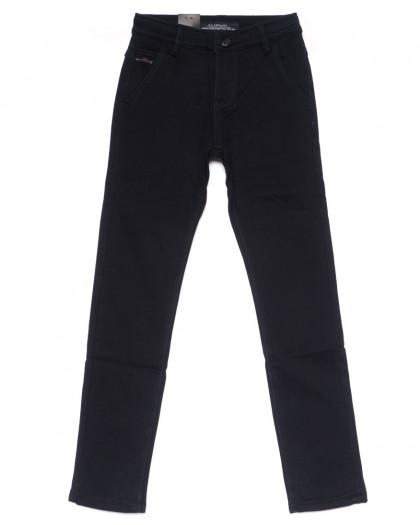 4001-T LS брюки мужские на мальчика темно-синие на флисе зимние стрейч-котон (24-30, 7 ед) LS