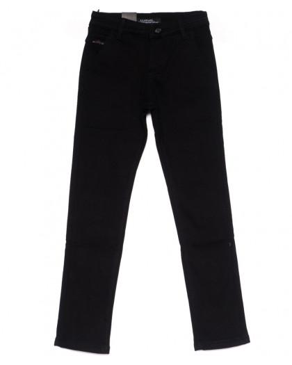 4002-T LS брюки мужские на мальчика черные на флисе зимние стрейч-котон (24-30, 7 ед) LS