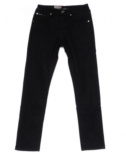 89002-T LS брюки мужские на мальчика черные на флисе зимние стрейч-котон (24-30, 7 ед) LS
