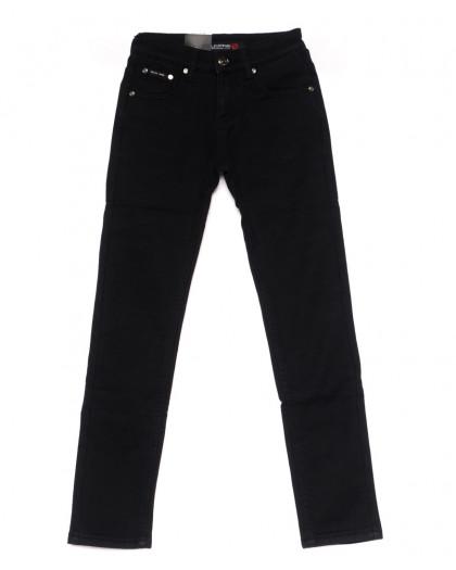 89001-T LS брюки мужские на мальчика черные на флисе зимние стрейч-котон (23-28, 6 ед) LS