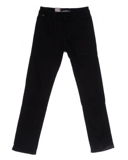 4009 LS брюки мужские темно-синие на флисе зимние стрейч-котон (29-38, 8 ед) LS