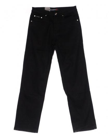 89004 LS джинсы мужские полубатальные черные на флисе зимние стрейчевые (32-38, 8 ед) LS