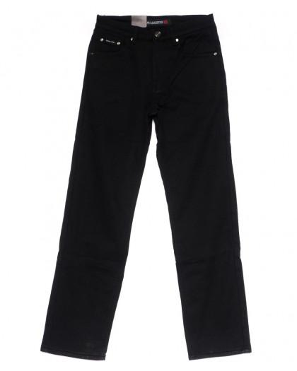 89003 LS джинсы мужские черные на флисе зимние стрейчевые (30-38, 8 ед) LS