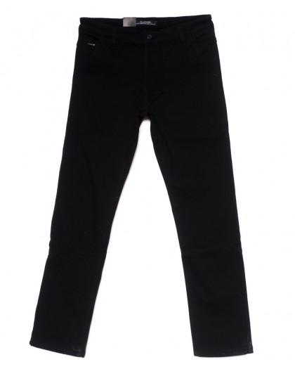 4010 LS брюки мужские полубатальные черные на флисе зимние стрейч-котон (32-38, 8 ед) LS