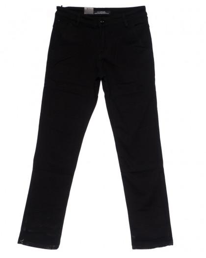 4008 LS брюки мужские темно-синие на флисе зимние стрейч-котон (29-38, 8 ед) LS