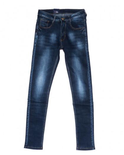 0302 Denim Fashion джинсы мужские зауженные синие осенние стрейчевые (29-36, 8 ед.) Denim Fashion