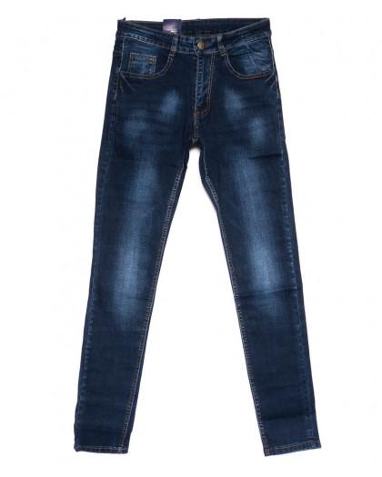 0306 Denim Fashion джинсы мужские зауженные синие осенние стрейчевые (30-36, 8 ед.) Denim Fashion