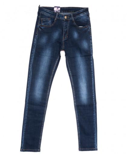 0303 Denim Fashion джинсы мужские зауженные синие осенние стрейчевые (30-36, 8 ед.) Denim Fashion