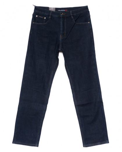 89007-B LS джинсы мужские полубатальные синие на флисе зимние стрейчевые (32-40, 8 ед.) LS
