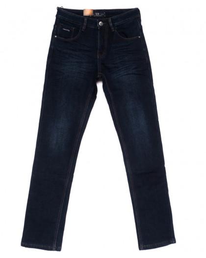 2027 LS джинсы мужские синие на флисе зимние стрейч-котон (29-38, 8 ед.) LS