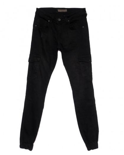 6184 Blue Nil джинсы мужские на резинке черные осенние стрейчевые (29-36, 8 ед.) Blue Nil