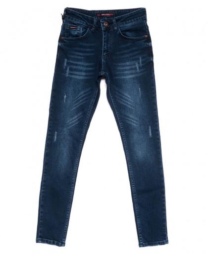 0569 Redmoon джинсы мужские с царапками зауженные осенние стрейчевые (29-36, 6 ед.) Red Moon