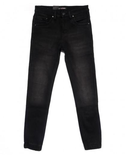 2054-A LS джинсы мужские на резинке на флисе зимние стрейчевые (30-38, 8 ед.) LS