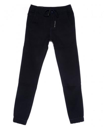 4030-A LS джинсы мужские молодежные на резинке темно-синие на флисе зимние стрейчевые (27-34, 8 ед.) LS