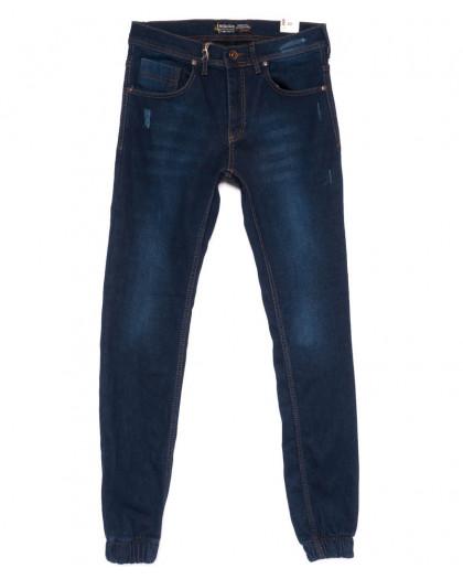6369 Redcode джинсы мужские на резинке с царапками на флисе зимние стрейчевые (29-36, 8 ед.) Redcode