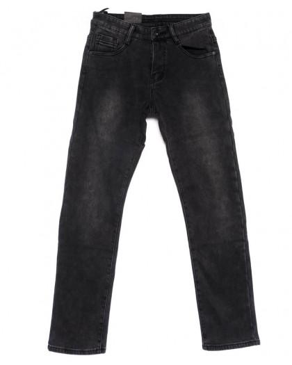 19135-2 Viman джинсы мужские темно-серые зимние на флисе стрейчевые (30-36, 6 ед.) Viman