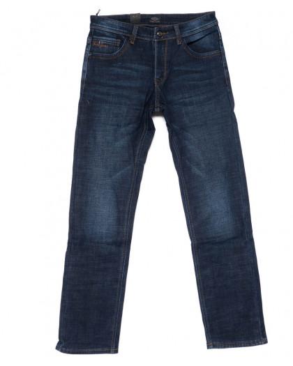 8222 FHOUS джинсы мужские полубатальные синие на флисе зимние стрейчевые (32-40, 8 ед.)  FHOUS