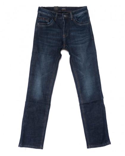 8223 FHOUS джинсы мужские синие на флисе зимние стрейчевые (30-38, 8 ед.)  FHOUS