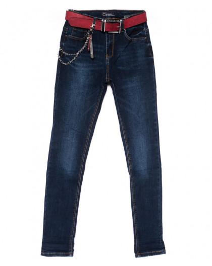 5102 Dknsel джинсы женские полубатальные зауженные синие осенние стрейчевые (28-33, 6 ед) Dknsel
