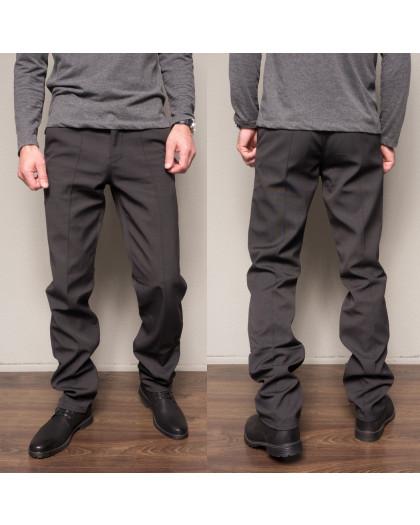 0324-H214 Prodigy брюки мужские темно-серые на флисе зимние стрейчевые (29-36, 7 ед.) Prodigy